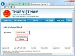 Trang nộp thuế điện tử